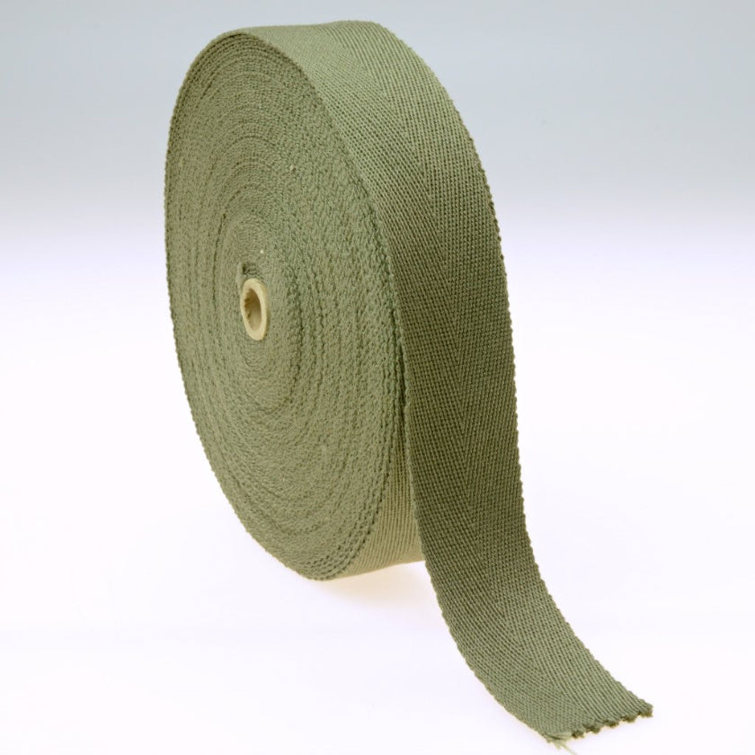 US WWII M1 Helmet Liner Suspension HBT Herring Bone Twill Webbing Tape for M1 Helmet Restoration