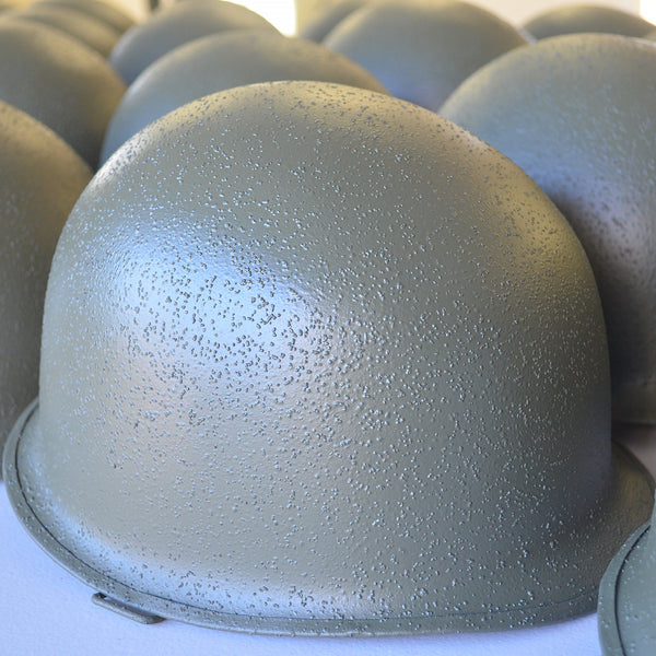 Restored US WWII M1 Helmet Shell with Cork Texturing
