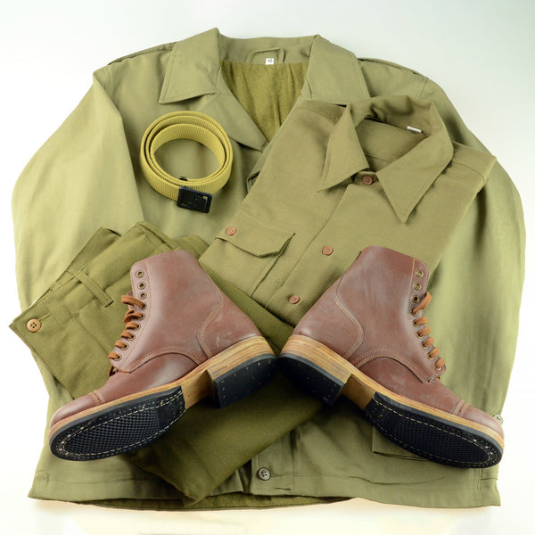 US WWII Army M41 Uniform Jacket, Shirt and Trouser Pants