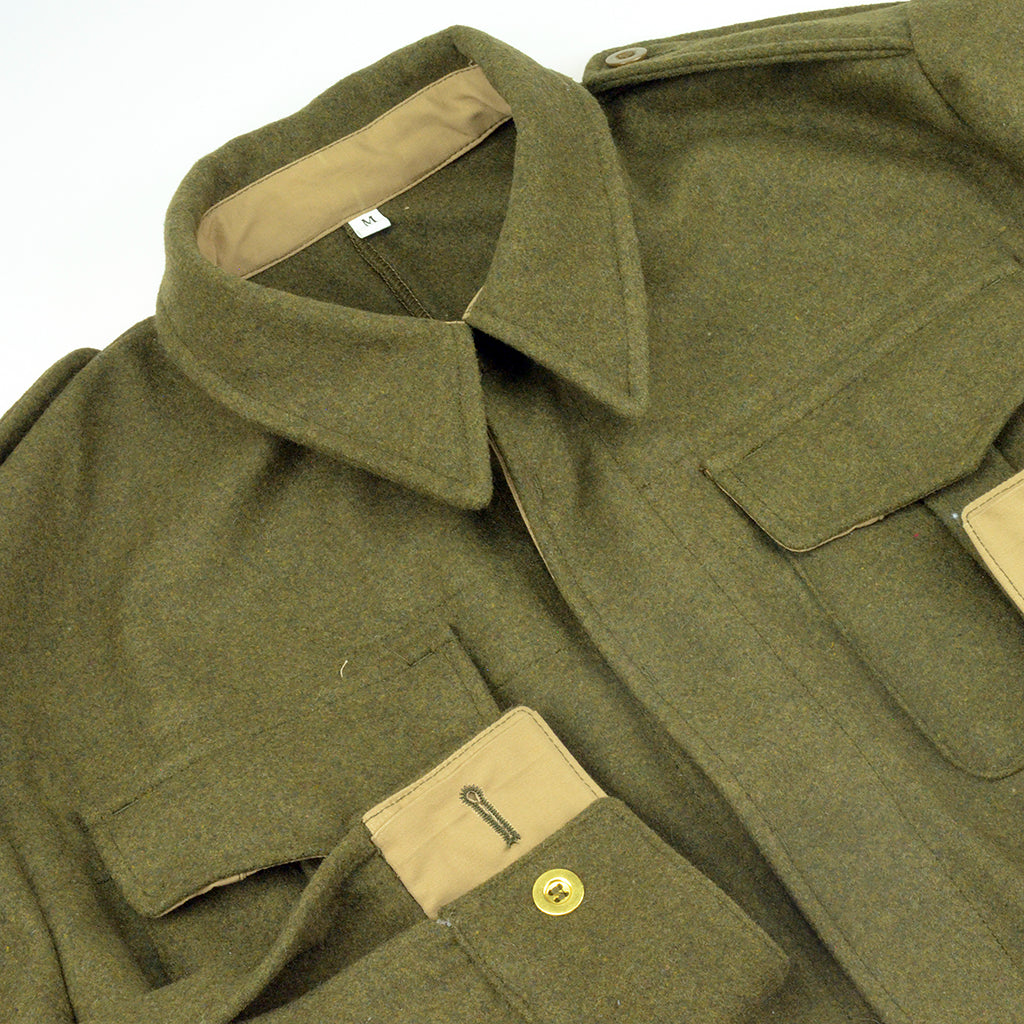 WWII Canadian Army P37 P40 Battledress Uniform Jacket in khaki-green wool Reproduction