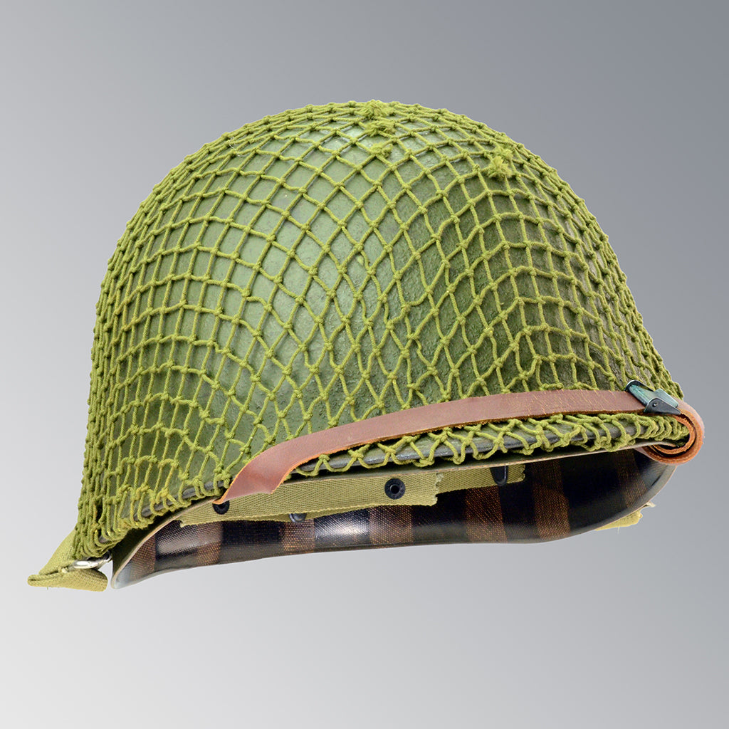US WWII M1 Infantry Helmet with OD 3 Net Schlueter