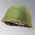 Original Paint US WWII M1 Schlueter Helmet Shell with Olive Drab 3 Helmet Net