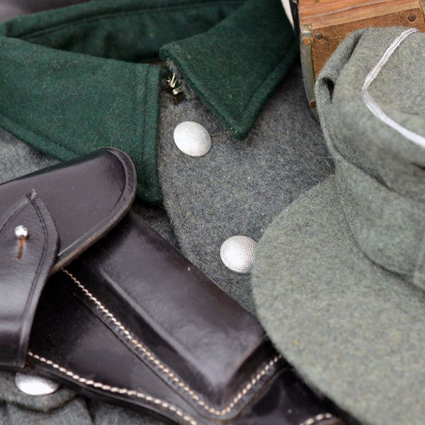 Reproduction WWII German Army Helmets, Uniforms and Boots