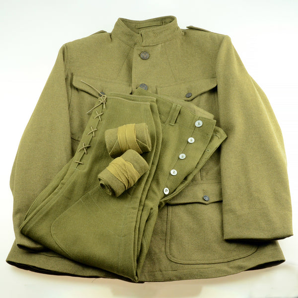 Reproduction WWI US Army Helmets, Uniforms and Boots
