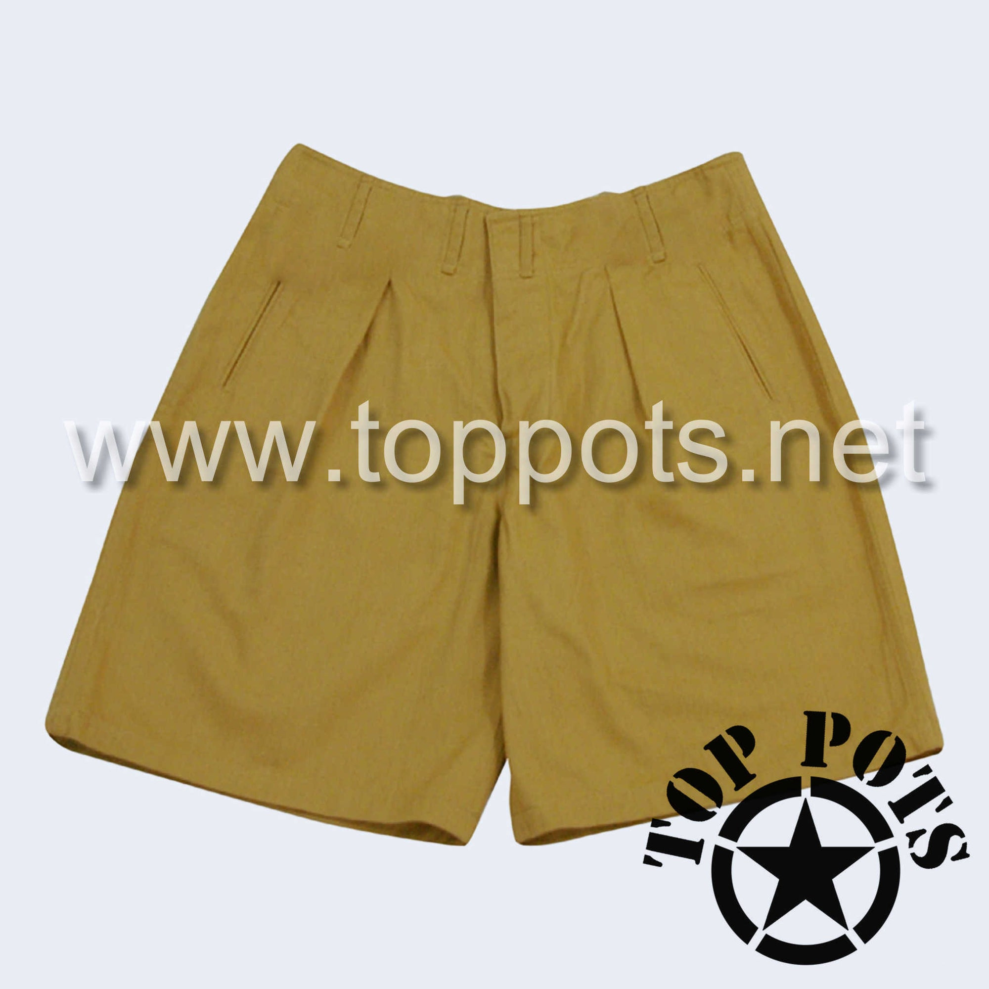 WWII German Luftwaffe DAK Afrika Korps Tropical Enlisted Uniform Shorts - Sand Khaki