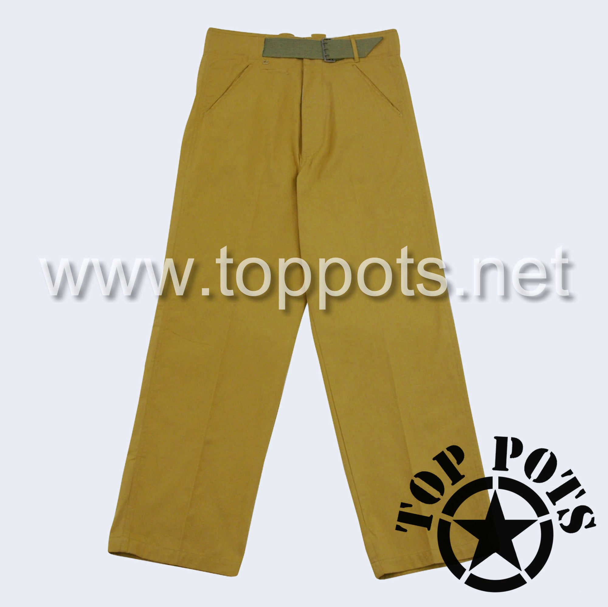 WWII German Army DAK Afrika Korps Tropical Uniform Sand Khaki Pants - Enlisted Trousers