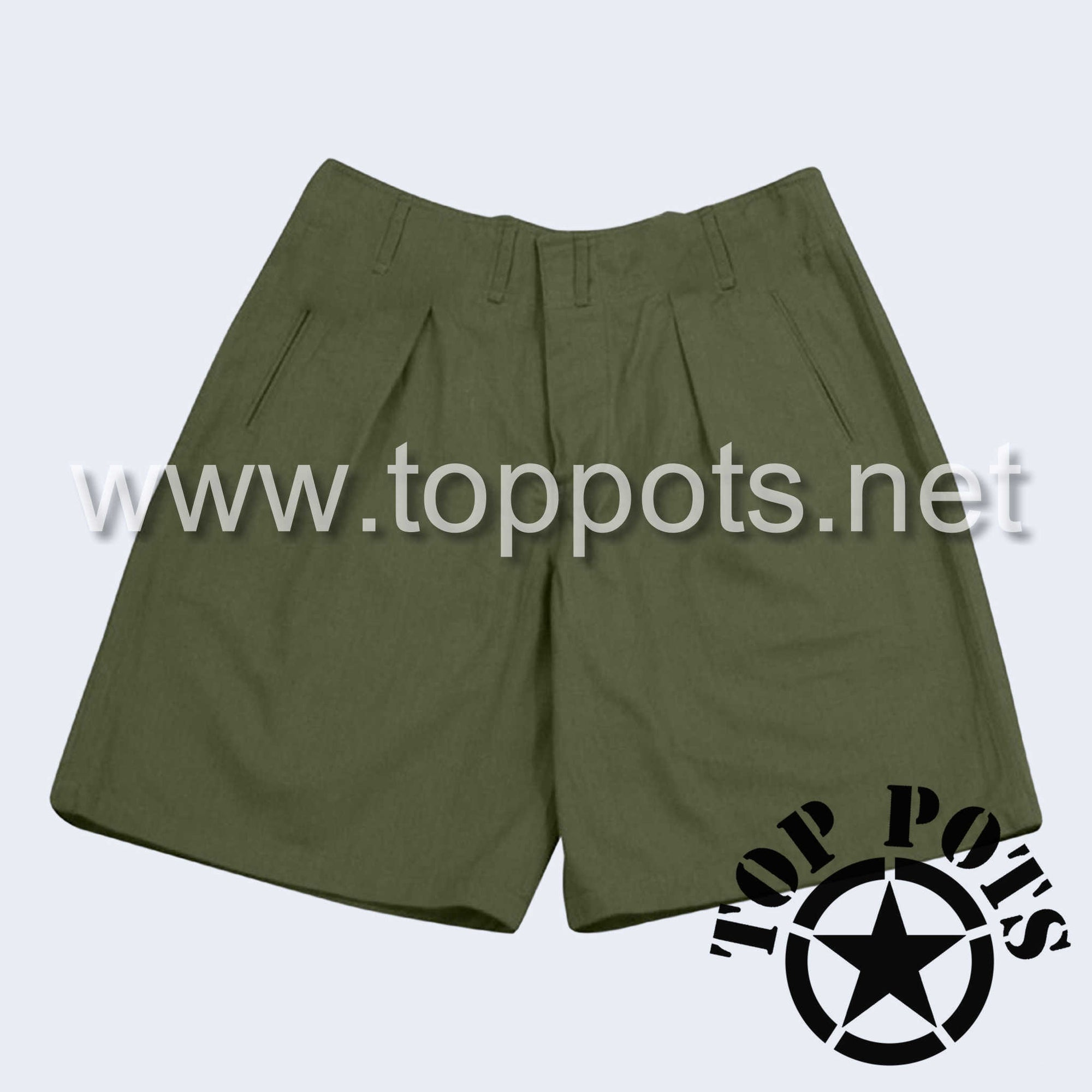 WWII German Army DAK Afrika Korps Tropical Uniform Olive Brown Shorts - Enlisted Shorts
