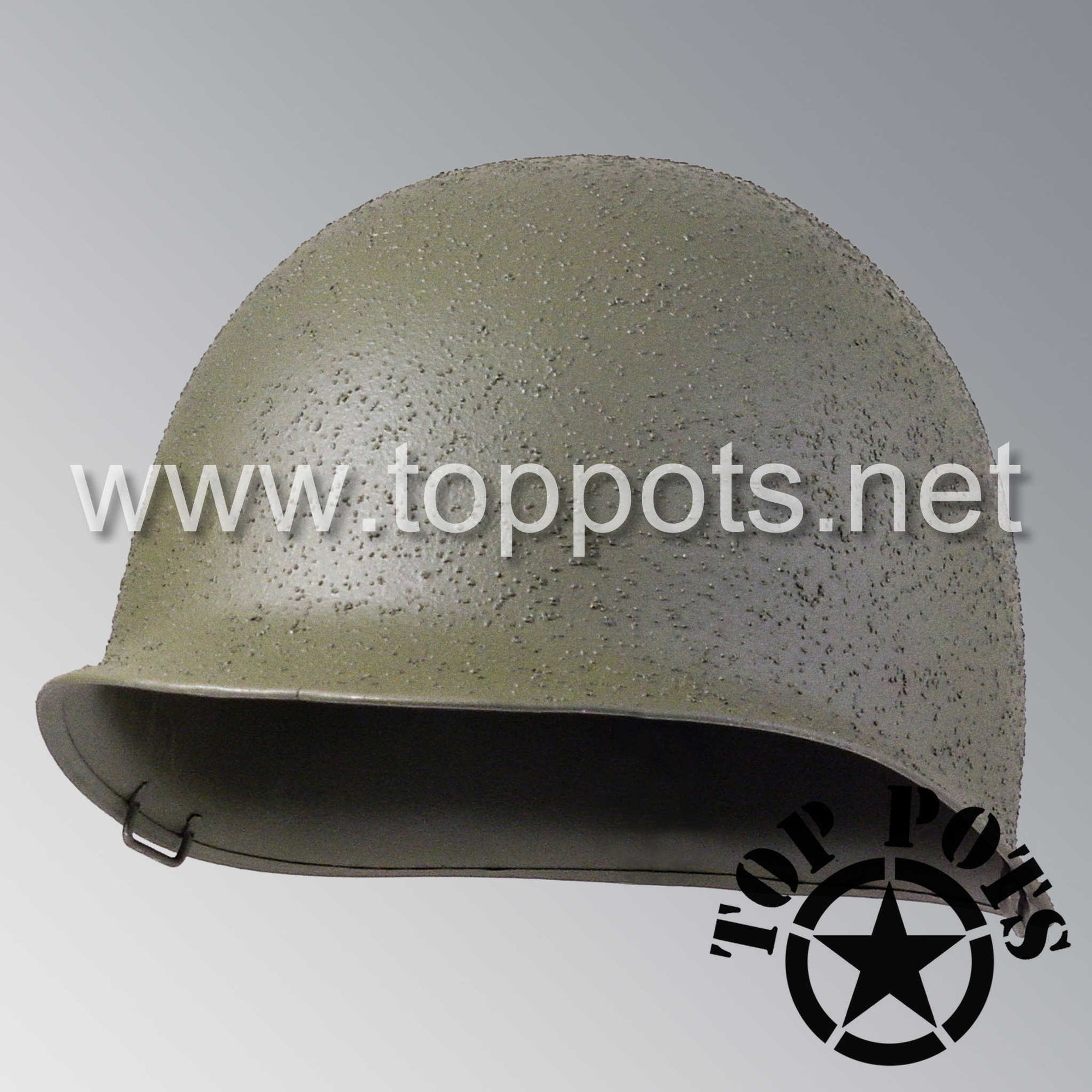 Image 1 of WWII US Army Restored Original M1 Infantry Helmet Fix Bale McCord Shell