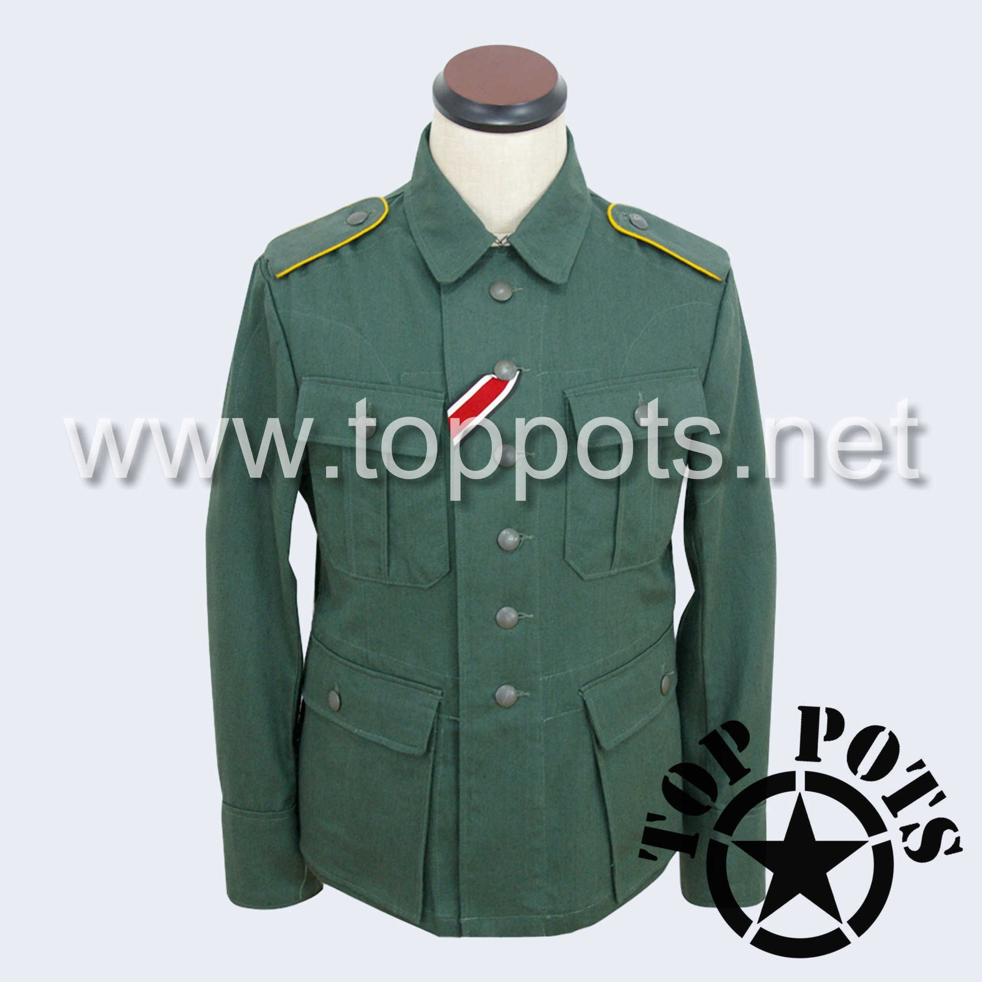 WWII German Luftwaffe M1941 DAK Afrika Korps HBT Tropical Enlisted Uniform - Reed Green