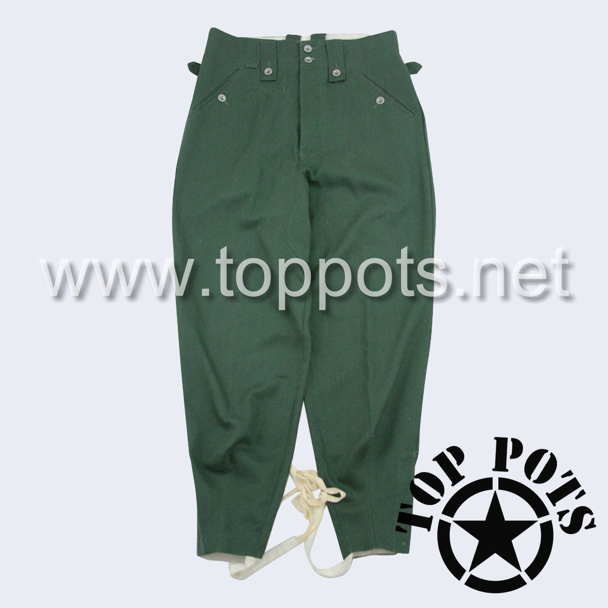 WWII German Army M1943 Waffen SS Enlisted HBT Reed Green Summer Uniform Pants - Field Trousers (Keilhosen)