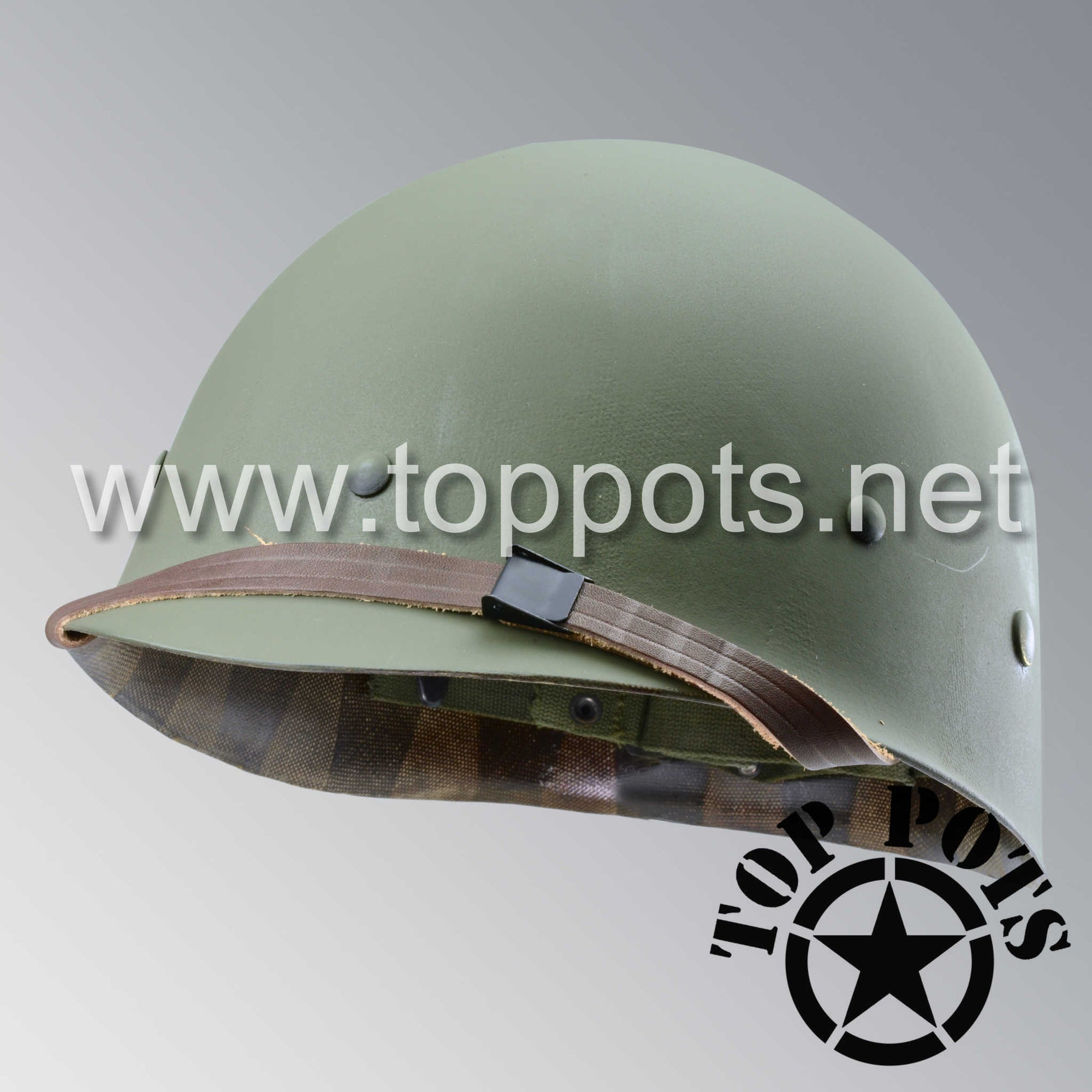 Image 1 of Vietnam War US Army Original M1 Infantry Helmet P55 Liner