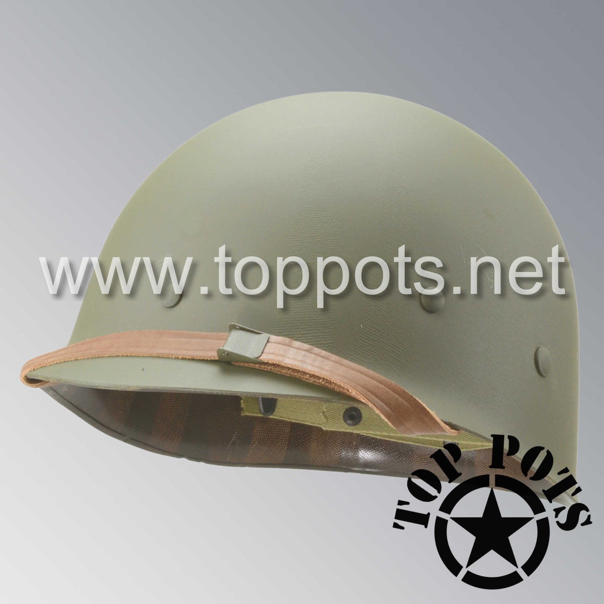 Image 1 of WWII US Army Restored Original M1 Infantry Helmet Liner with P55 Model