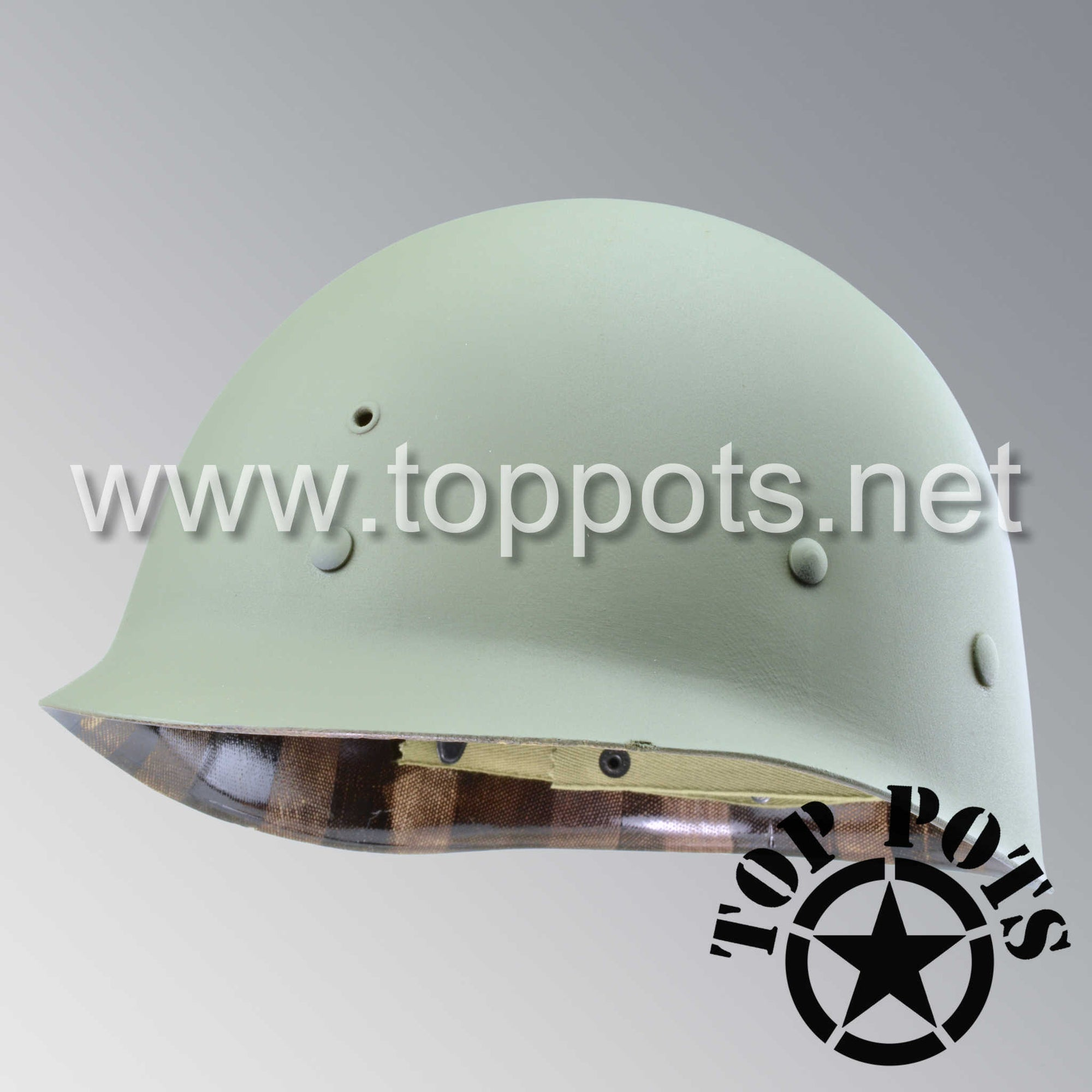 Image 1 of WWII US Army Restored Original M1 Infantry Helmet Liner with No Accessories