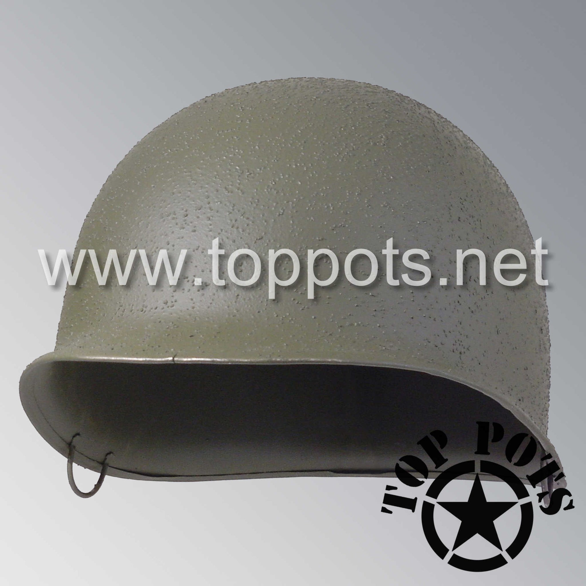 Image 1 of WWII US Army Restored Original M2 Paratrooper Airborne Helmet D Bale McCord Shell