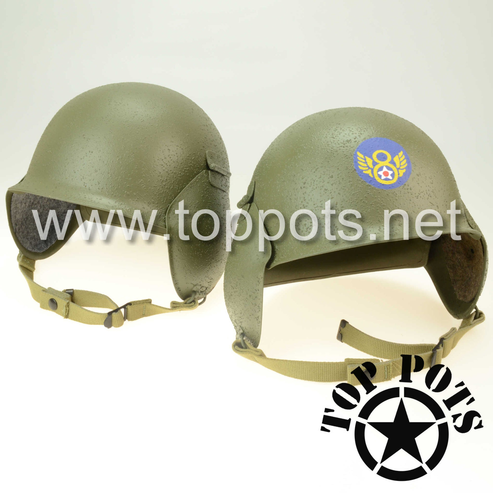 WWII US Army Air Corps M3 Flak Helmet and Liner Restoration Service