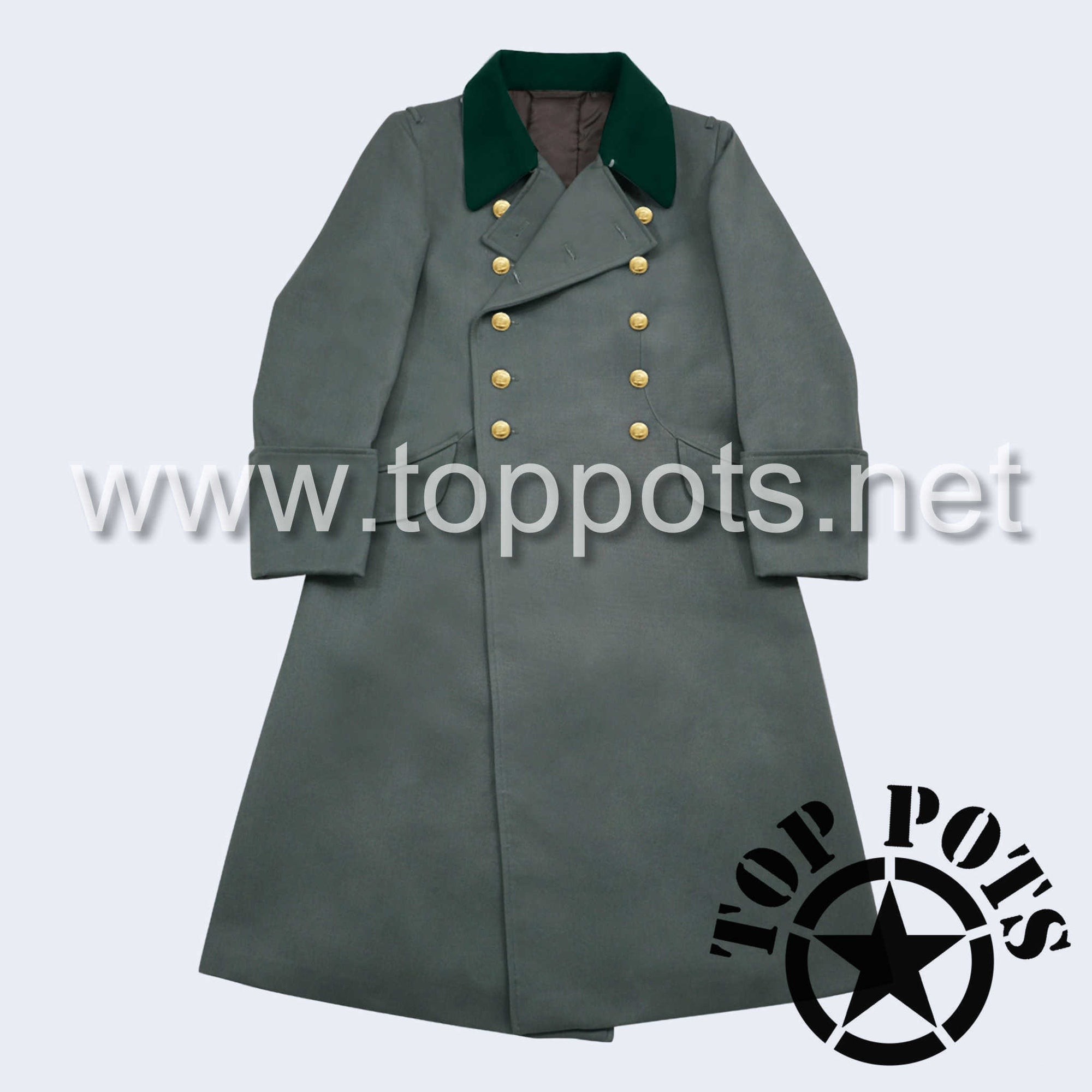 WWII German Navy M1936 Kriegsmarine Uniform Overcoat Greatcoat Winter Jacket Field Grey Gabardine - Coastal Officer