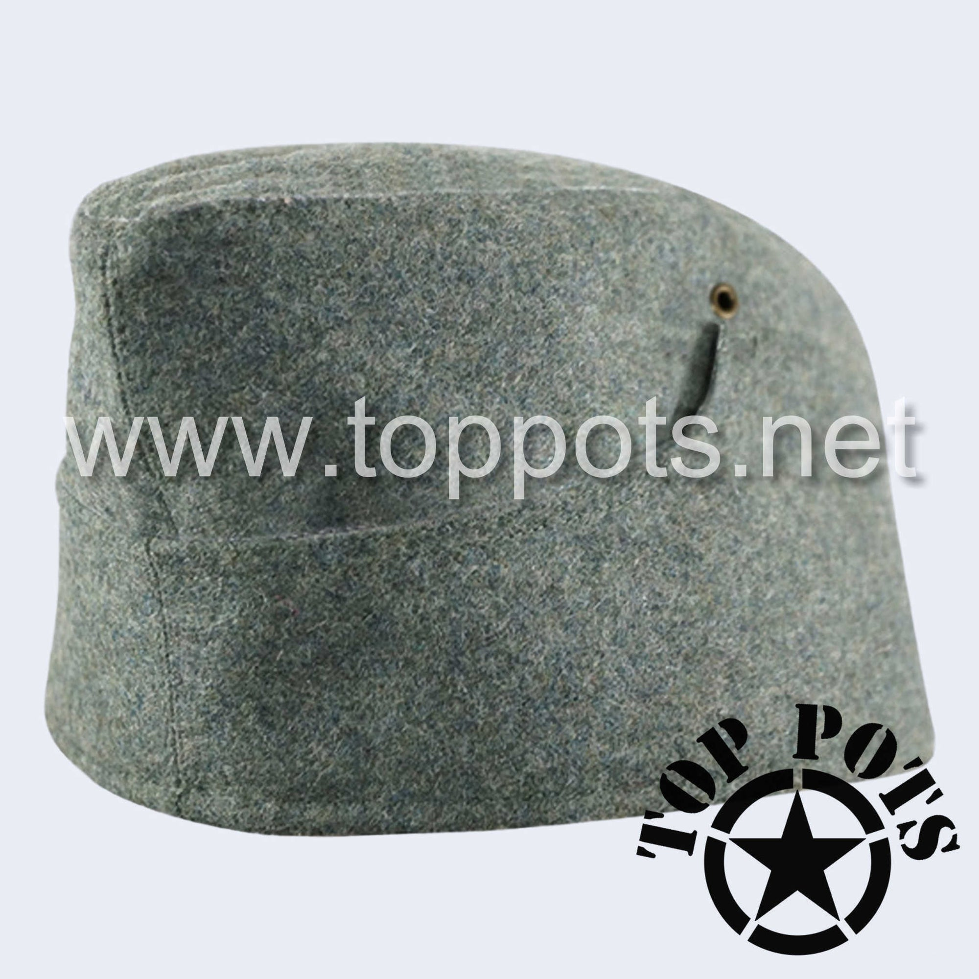 WWII German Army M1938 Heer Wehrmacht Panzer Uniform HBT Summer Cotton Overseas Side Cap Hat Field Grey - Enlisted