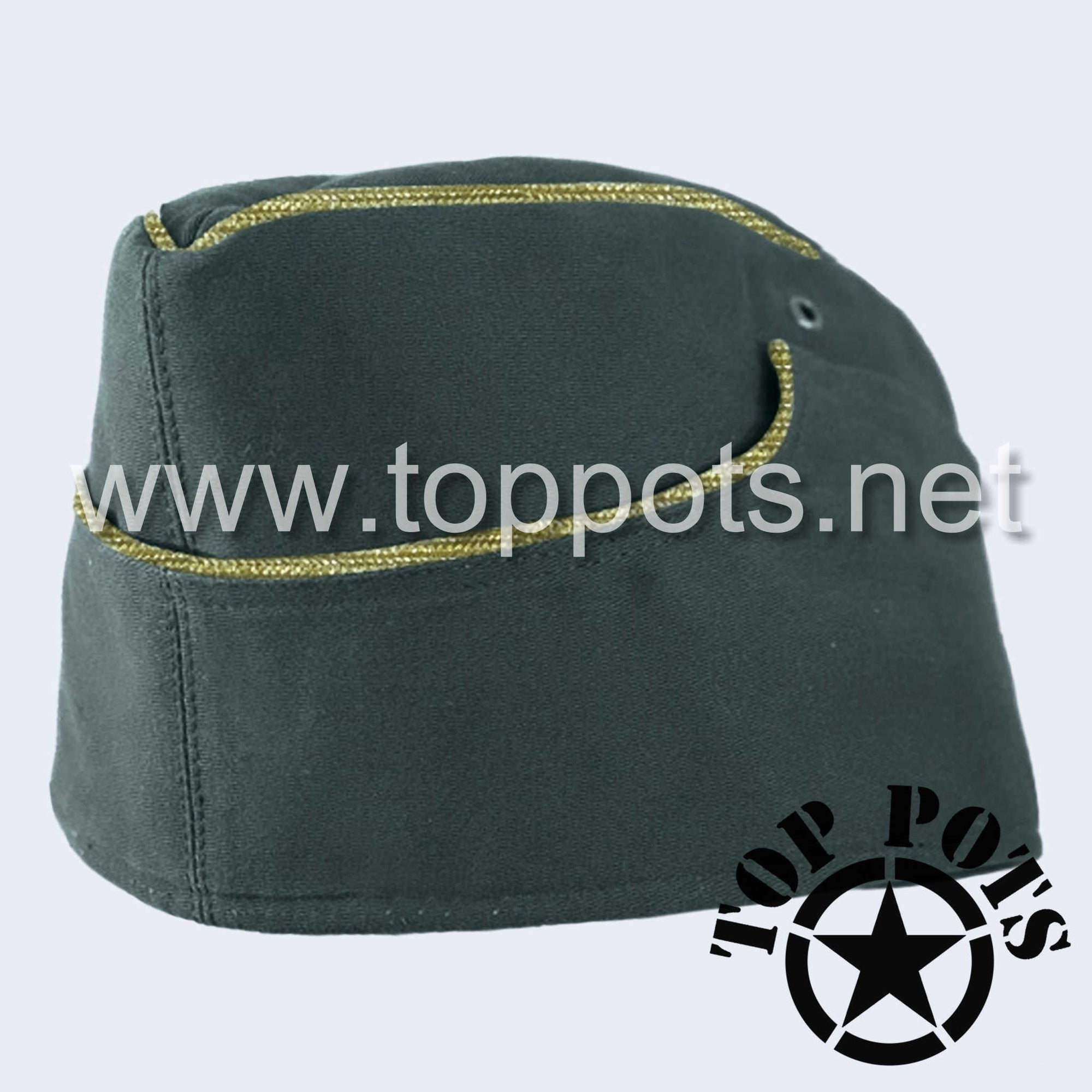 WWII German Army M1938 Heer Wehrmacht Officer Uniform HBT Summer Overseas Side Cap Reed Green - General