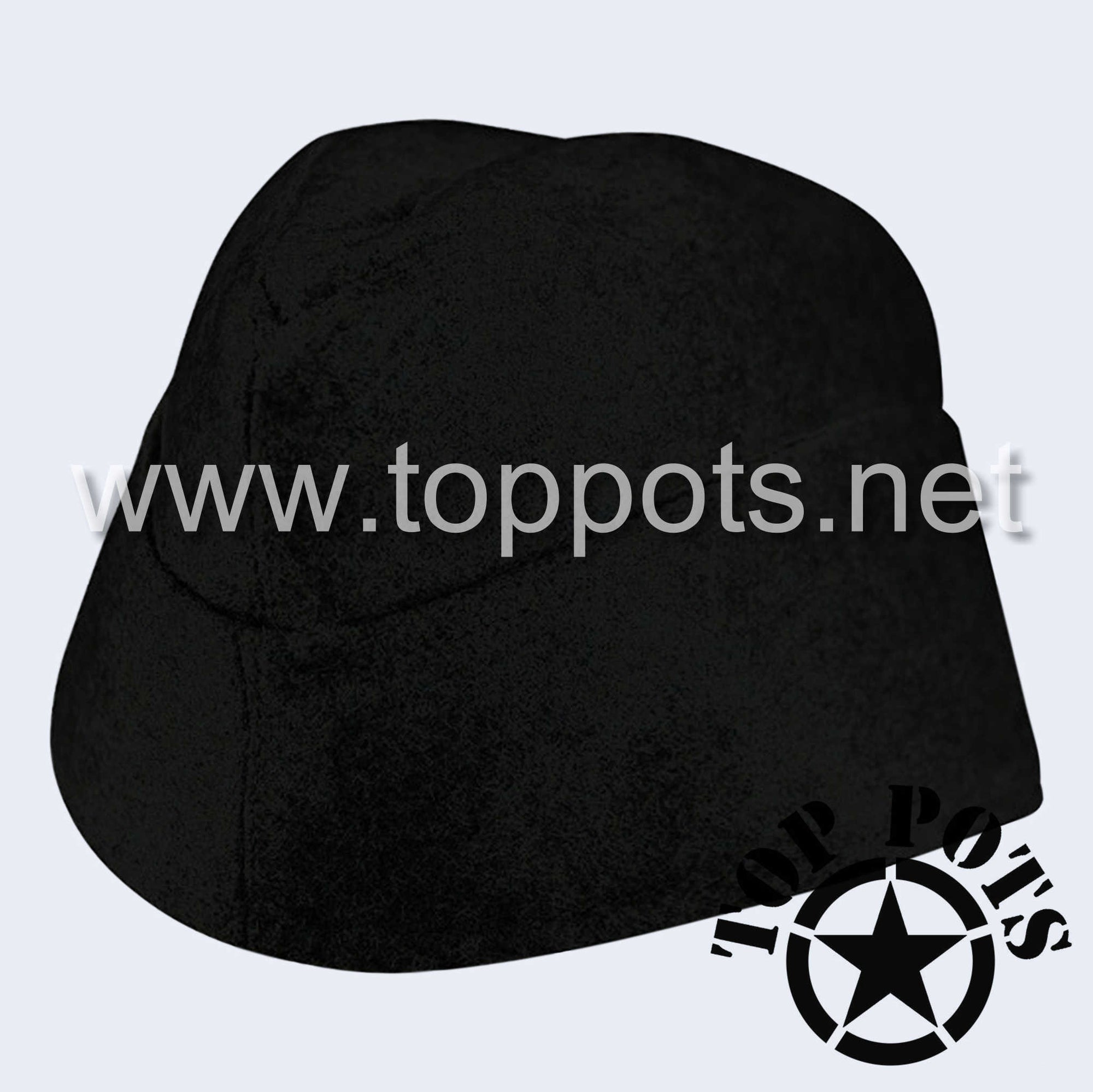 WWII German Army M1940 Heer Wehrmacht Panzer Uniform HBT Summer Cotton Overseas Side Cap Hat Black - Enlisted
