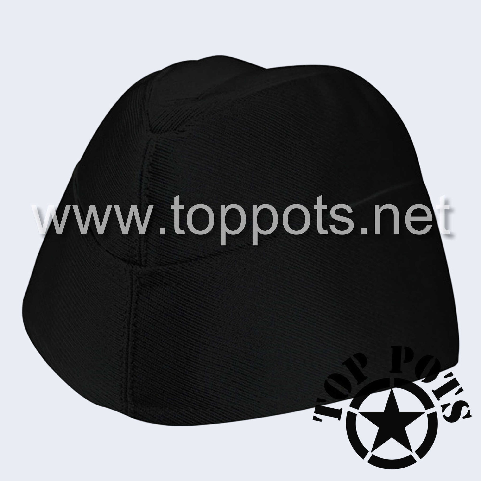 WWII German Army M1940 Heer Wehrmacht Panzer Uniform Overseas Side Cap Black Gabardine - Enlisted