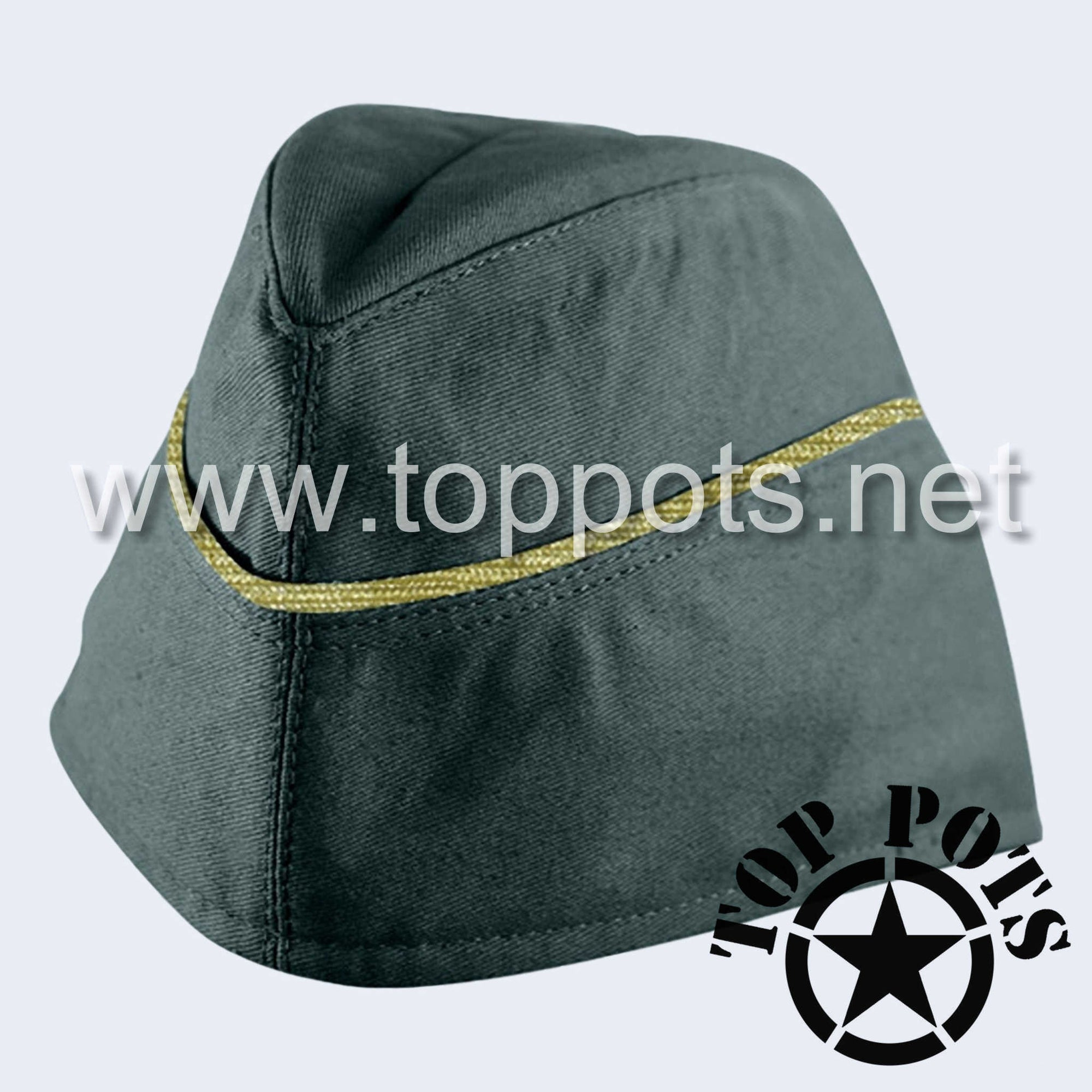 WWII German Army M1940 Heer Wehrmacht Officer Uniform HBT Summer Uniform Overseas Side Cap Reed Green - General