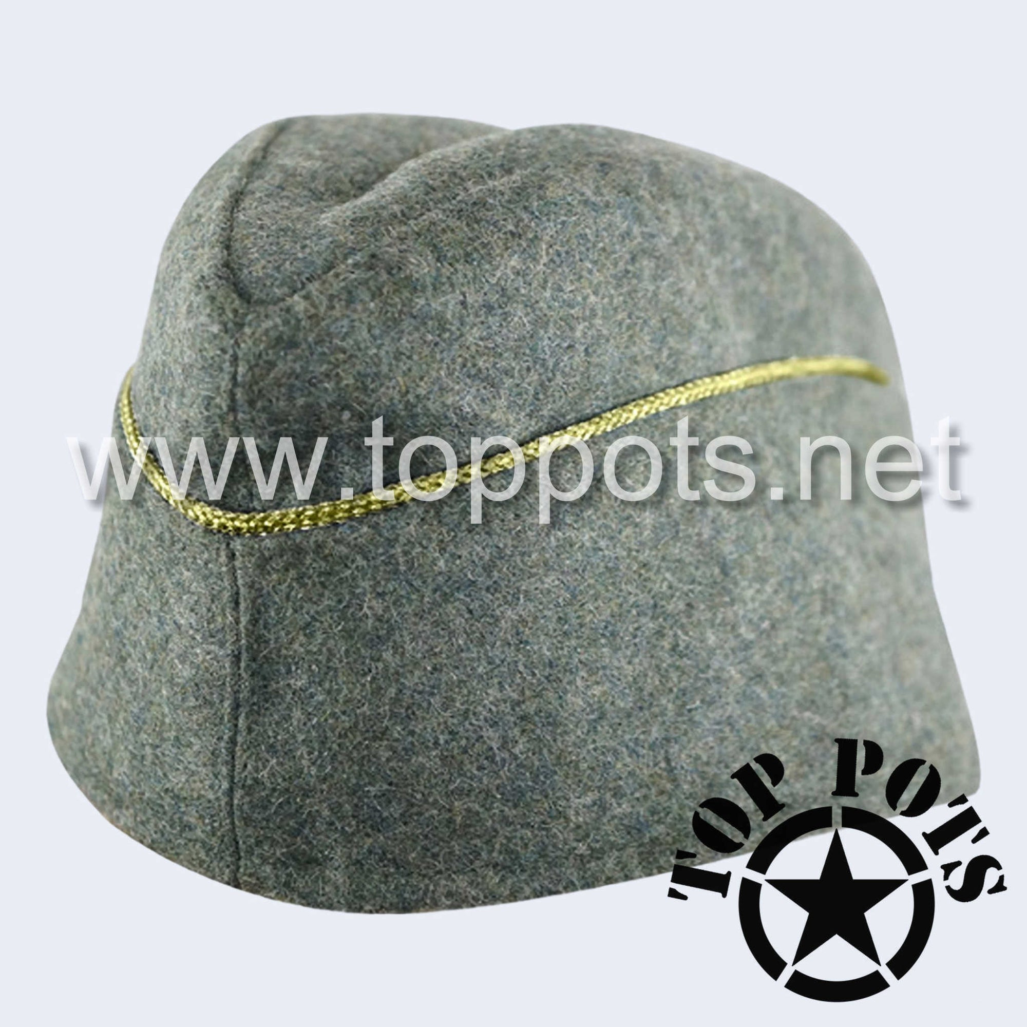 WWII German Army M1940 Heer Wehrmacht Officer Uniform HBT Summer Uniform Overseas Side Cap Field Grey - General