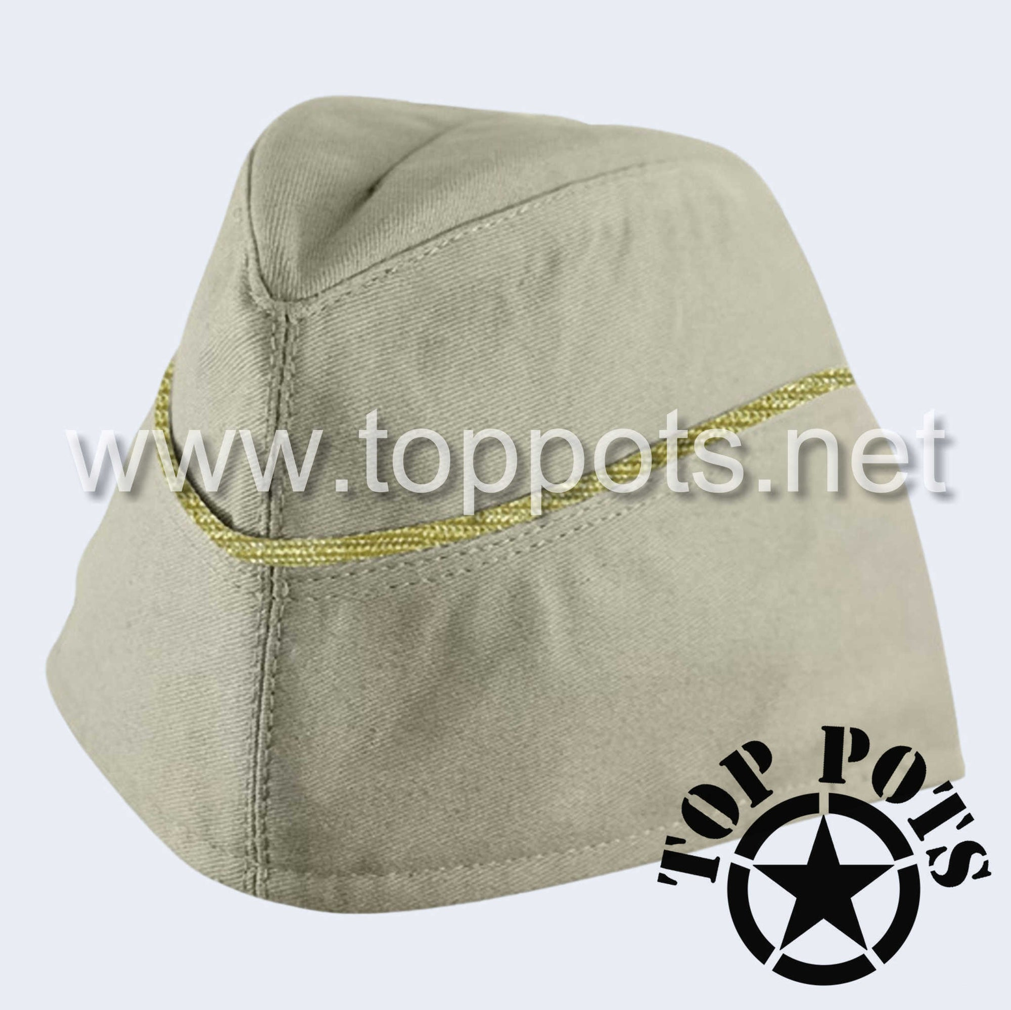 WWII German Army M1940 Heer Wehrmacht Officer Uniform HBT Summer Uniform Overseas Side Cap Off-White  - General