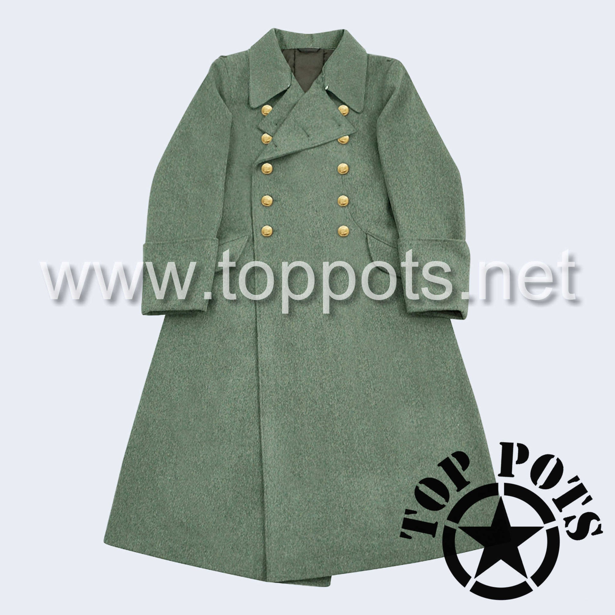 WWII German Navy M1940 Kreigsmarine Uniform Overcoat Greatcoat Winter Jacket Field Grey Wool - Coastal Officer