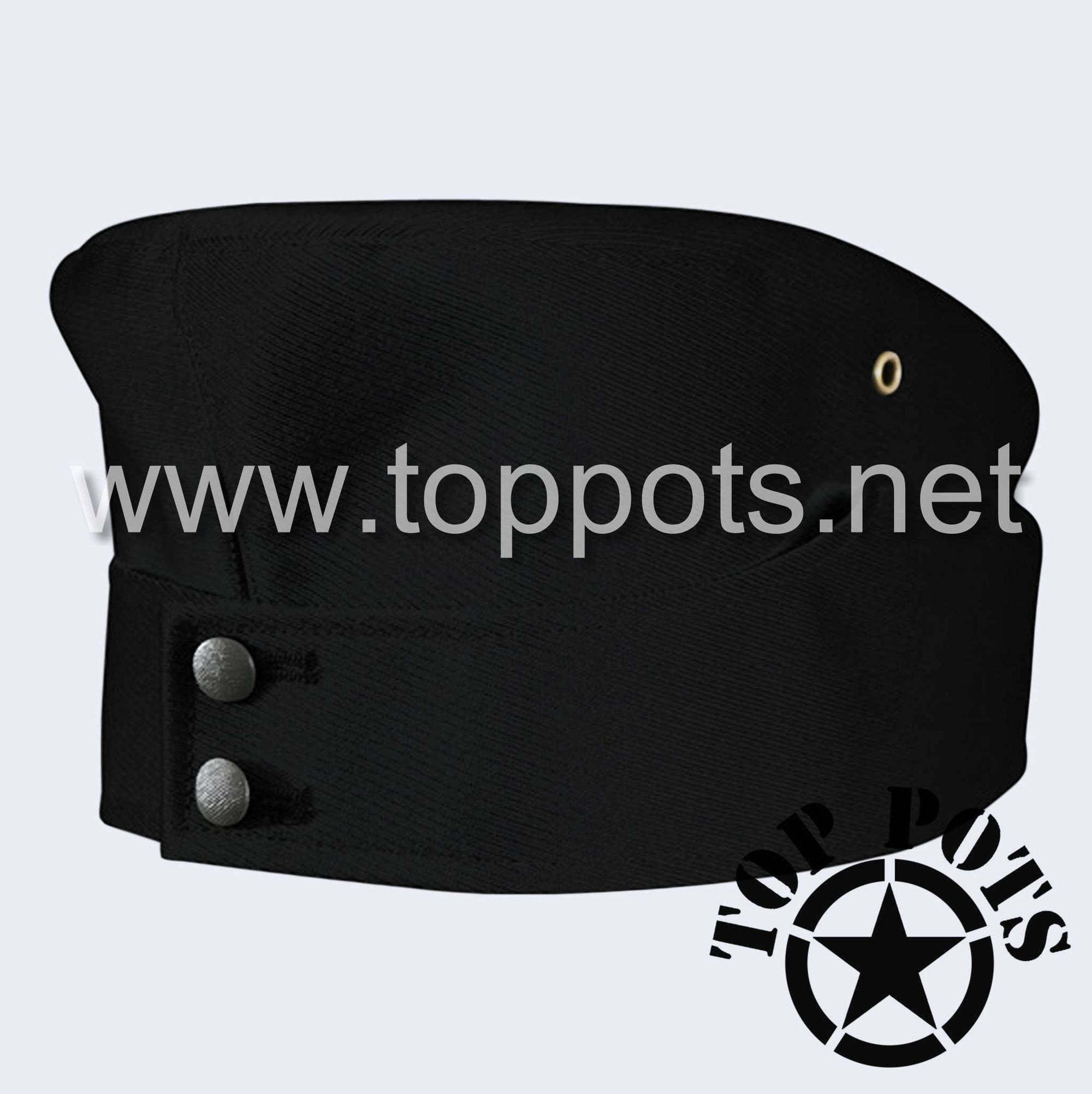 WWII German Army M1942 Heer Wehrmacht Panzer Uniform Overseas Side Cap Black Gabardine - Enlisted
