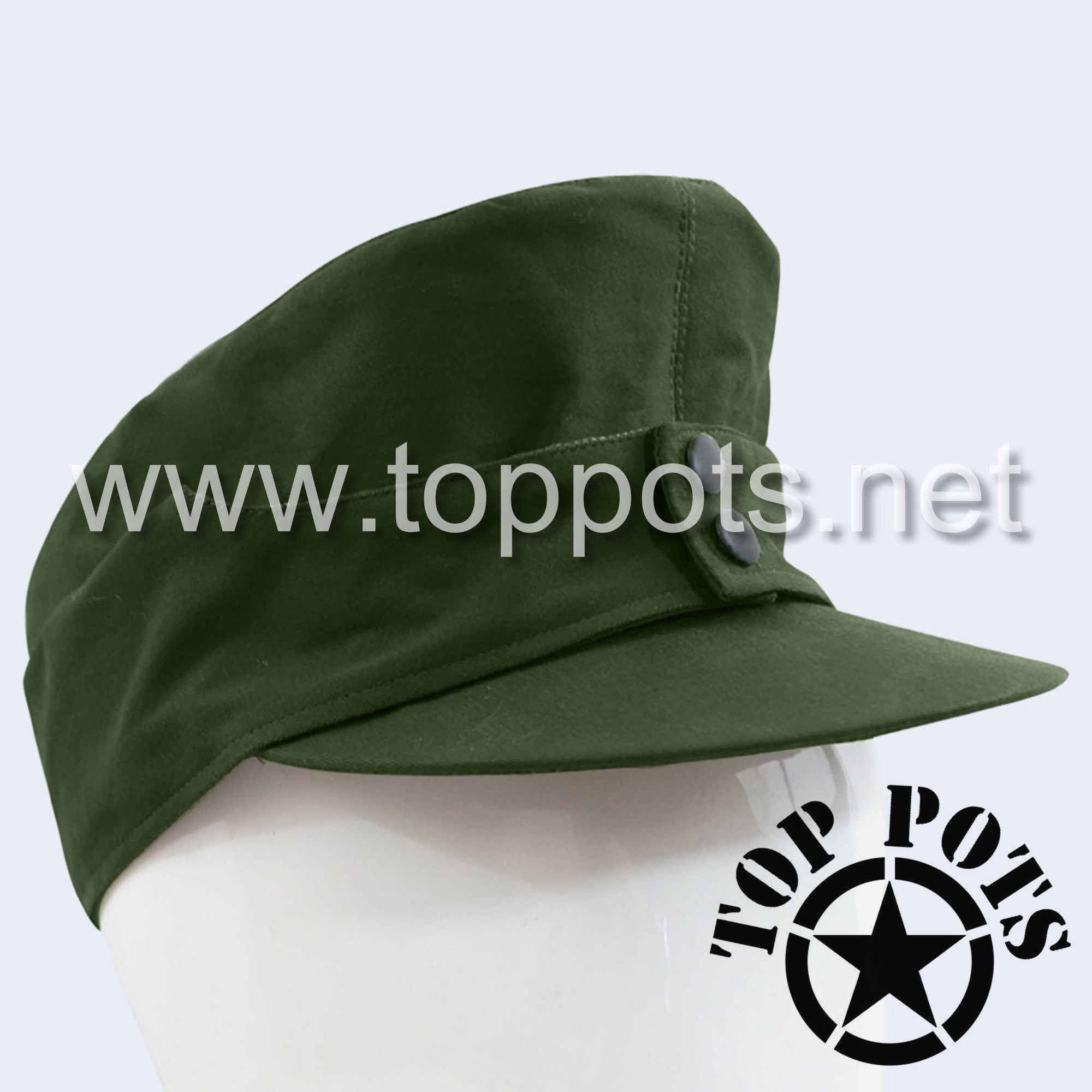WWII German Army M1943 DAK Afrika Korps Tropical Field Cap Olive Brown - Heer Enlisted