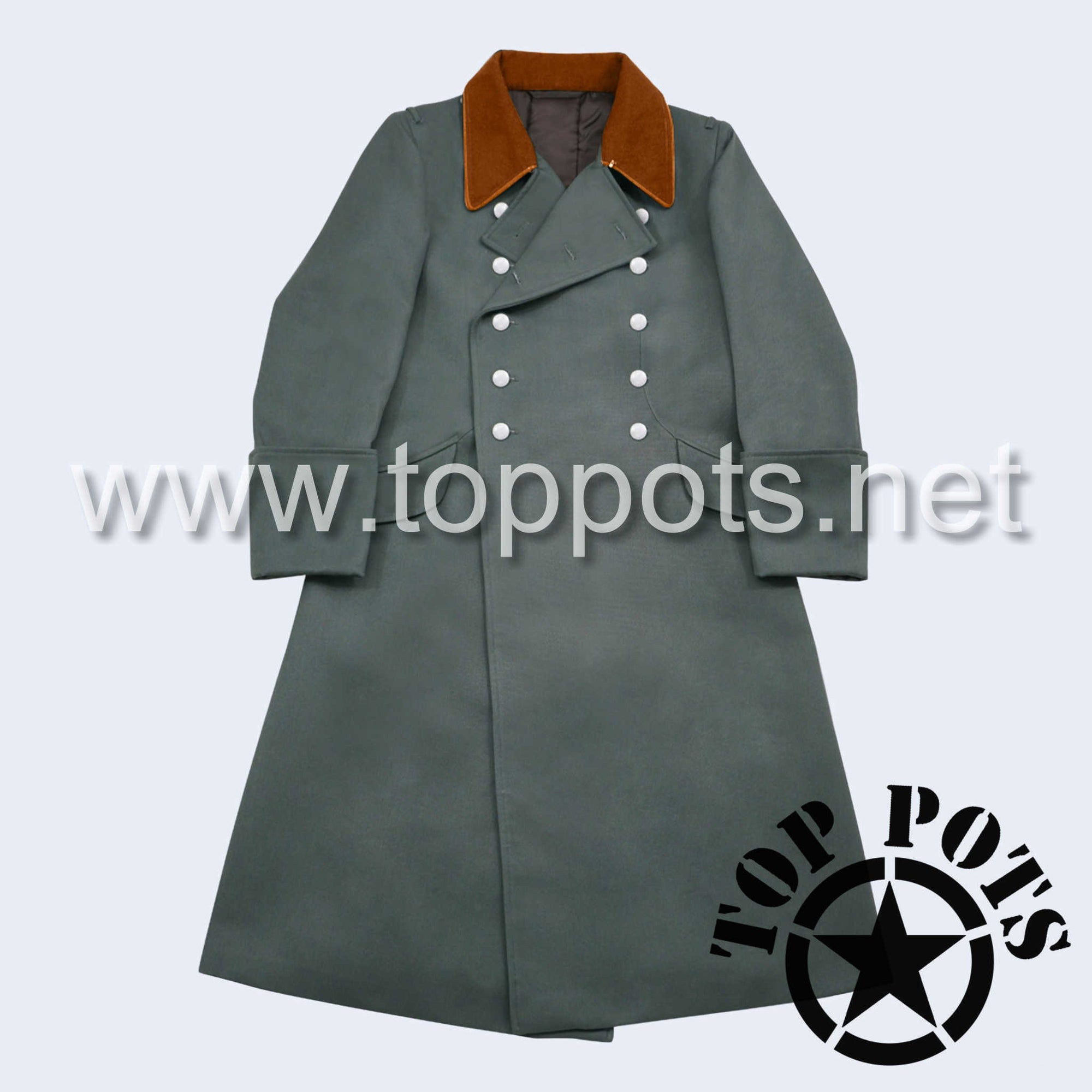 WWII German Army Waffen SS Police Uniform Overcoat Greatcoat Winter Jacket Field Grey Gabardine - Field Officer