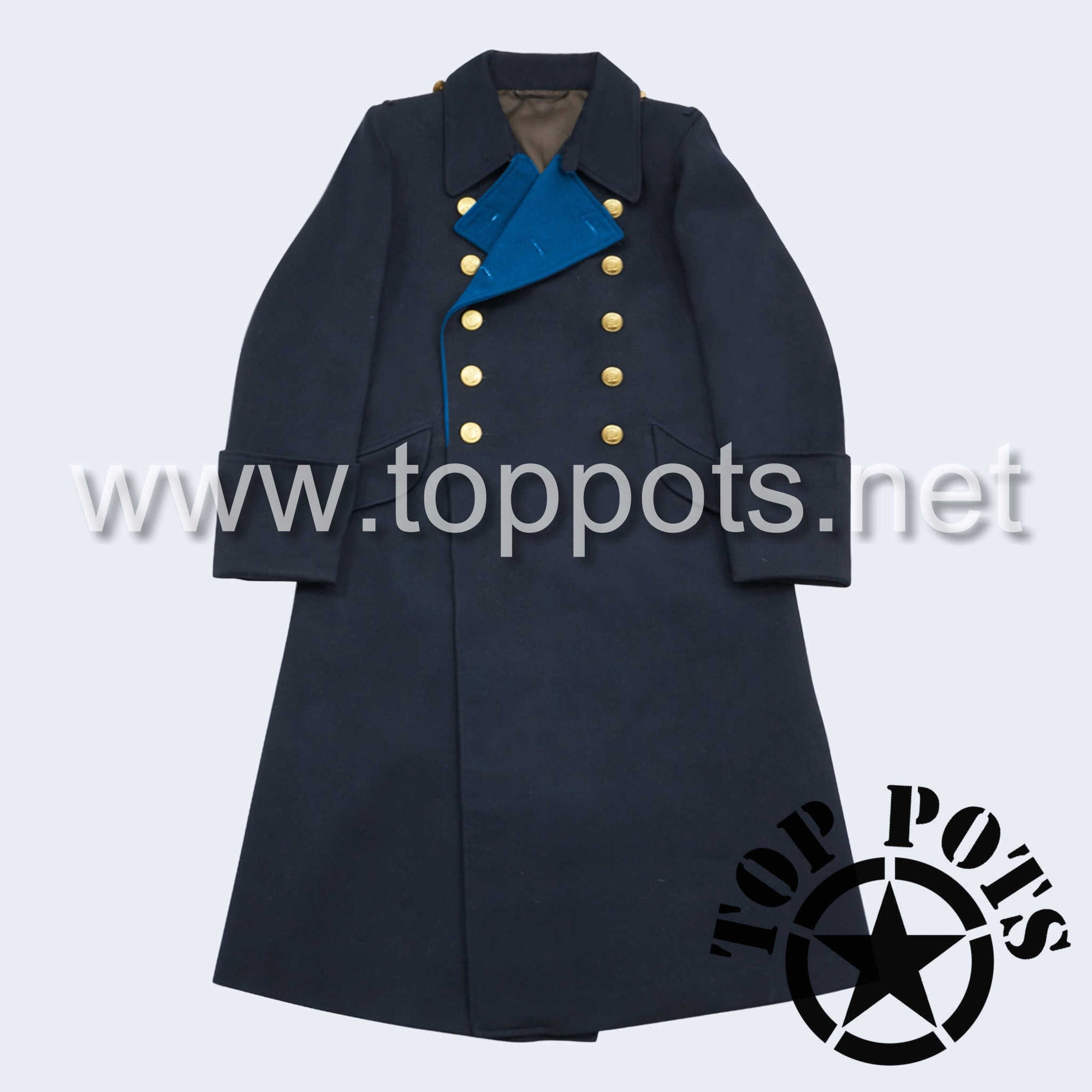 WWII German Navy Kriegsmarine Officer Uniform Overcoat Greatcoat Winter Jacket Navy Blue Gabardine - Admiral