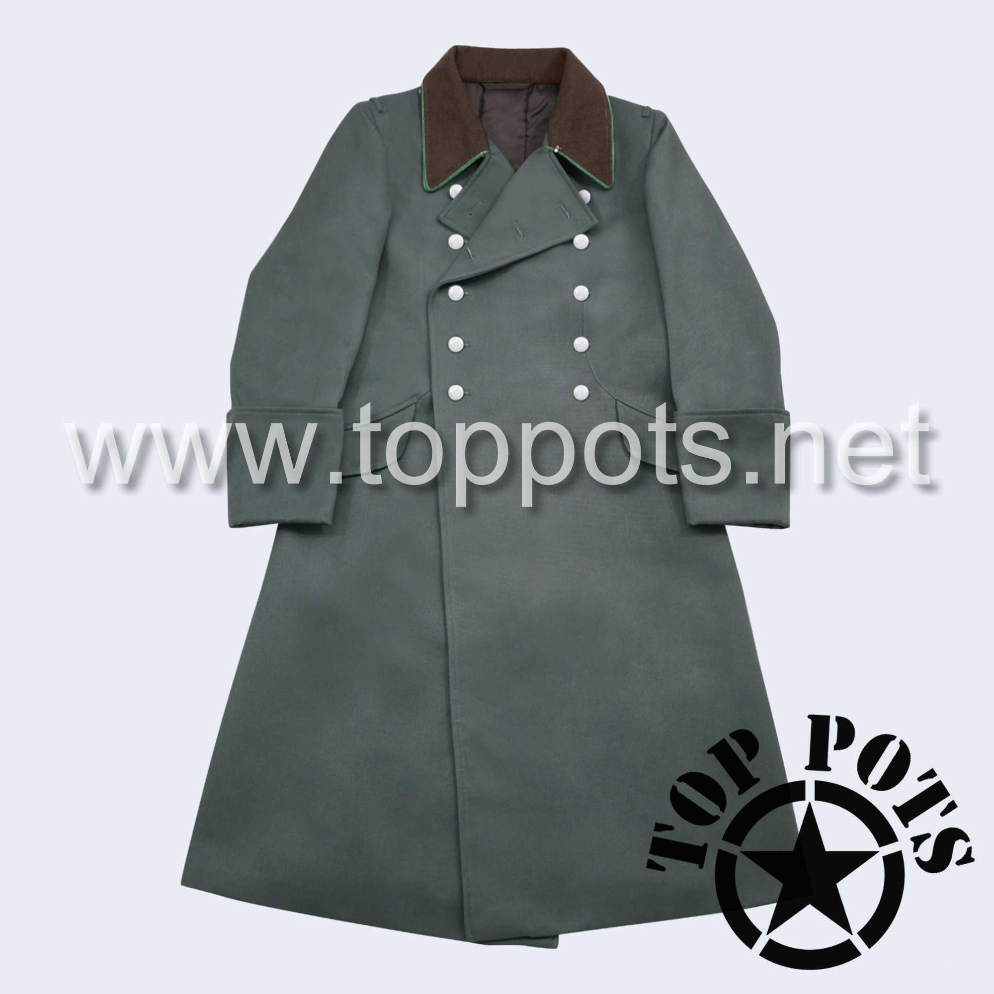 WWII German Army Waffenn SS Police Uniform Overcoat Greatcoat Winter Jacket Field Grey Gabardine - Officer