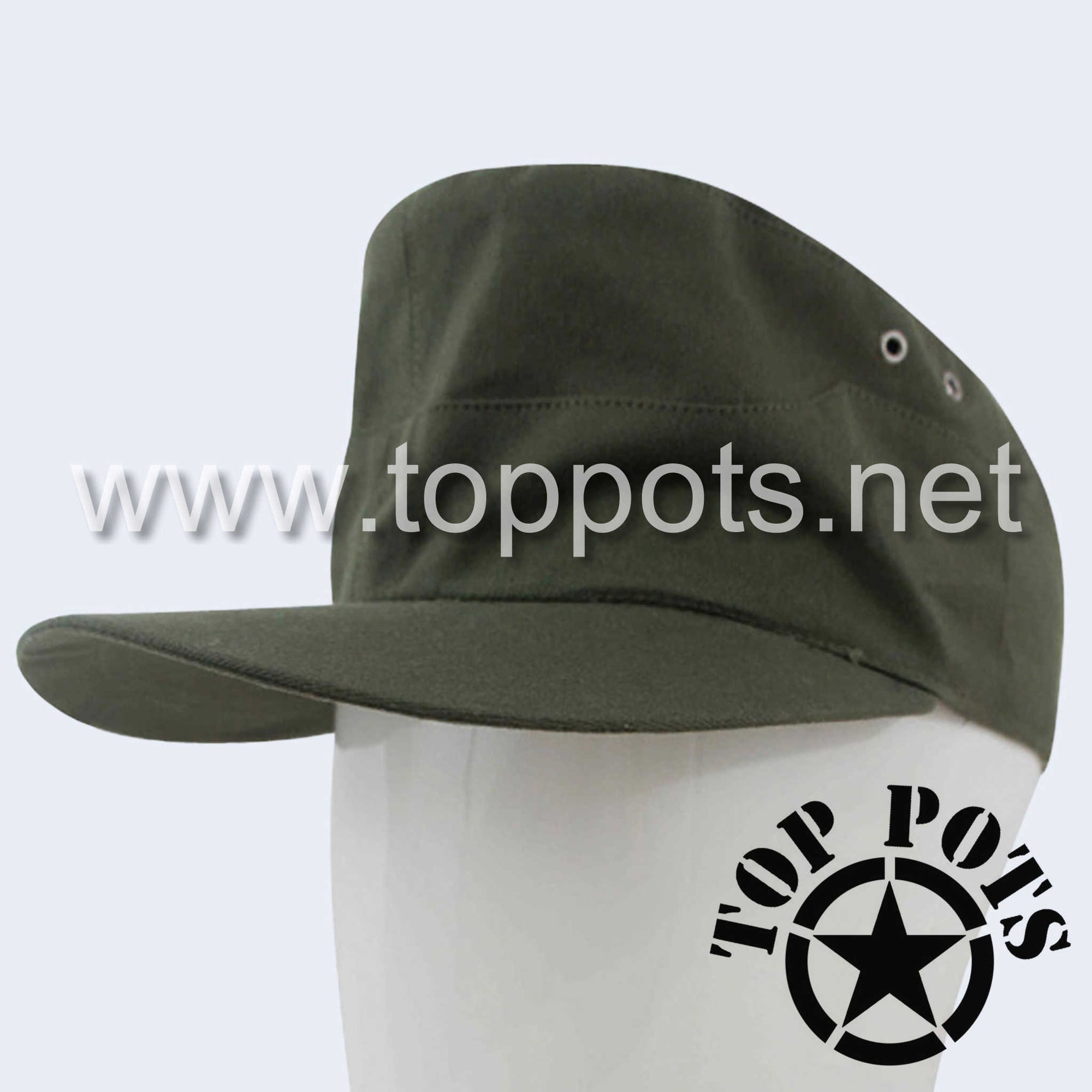 WWII German Army DAK Afrika Korps Tropical Field Cap Olive Brown - Heer Enlisted