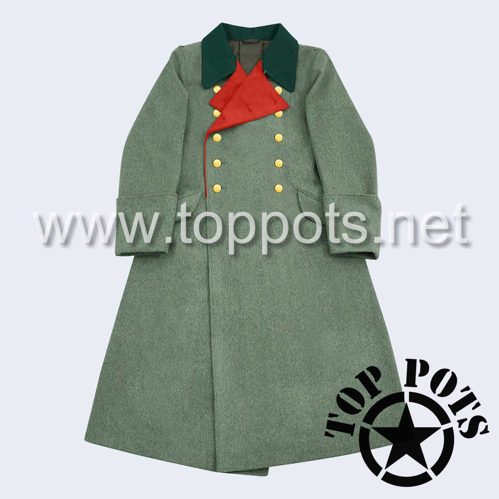 WWII German Army M1936 Waffen SS Uniform Overcoat Greatcoat Winter Jacket Field Grey Wool - General