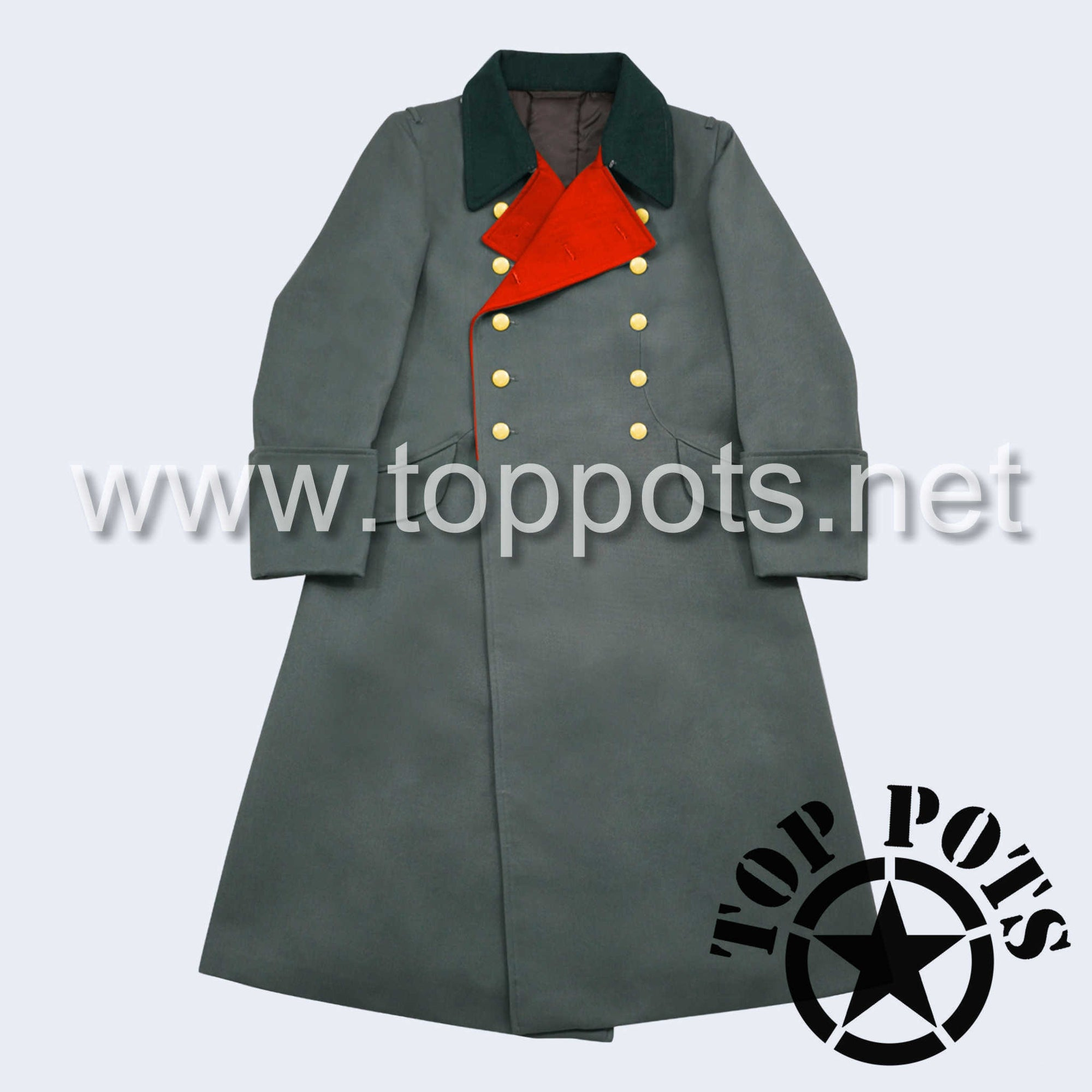WWII German Army M1936 Waffen SS Uniform Overcoat Greatcoat Winter Jacket Field Grey Gabardine - General