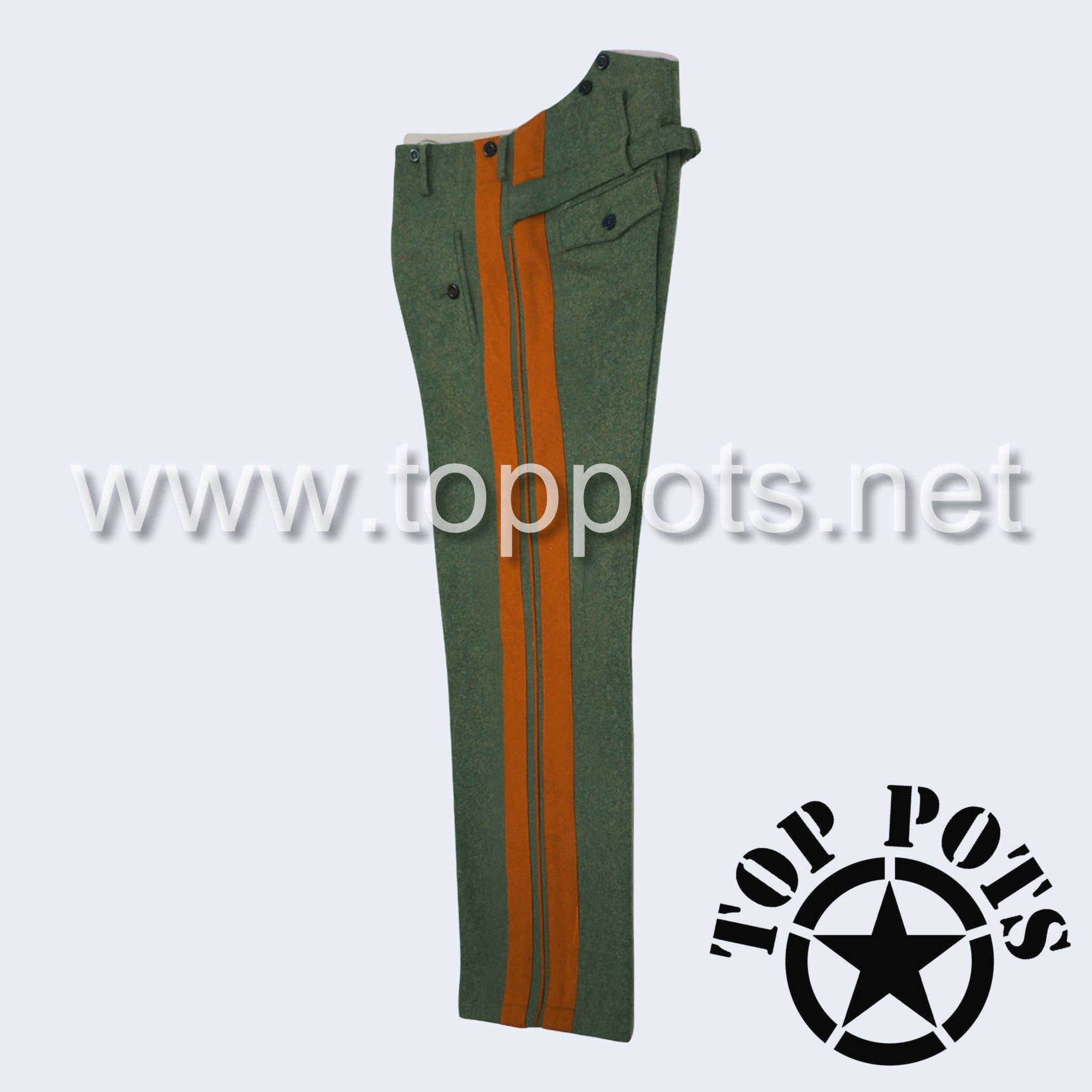 WWII German Army M1940 Heer Wehrmacht Officer Uniform Dress Pants Field Grey Wool - Field Police Trousers