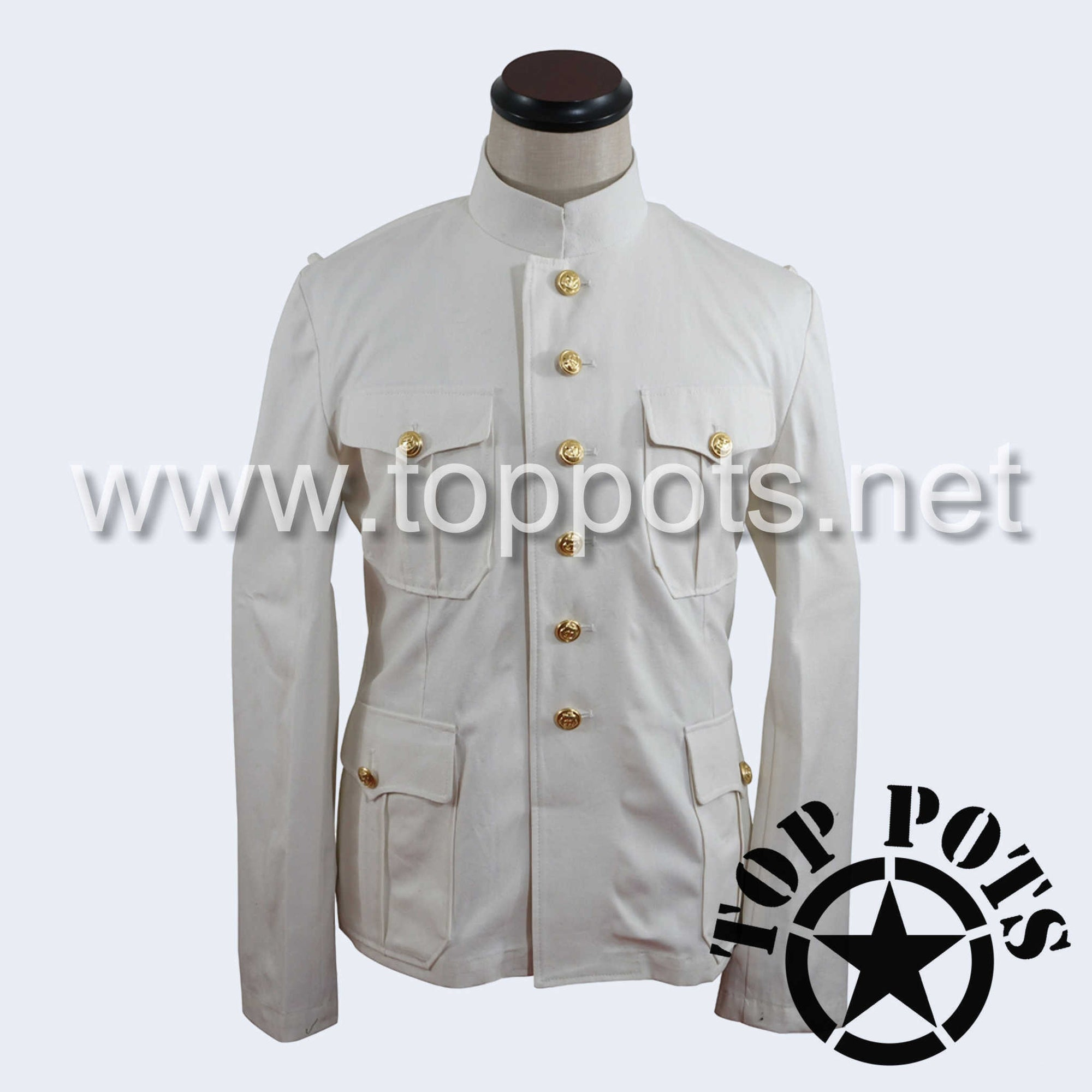 WWII German Navy Kriegsmarine Summer Uniform Jacket White Cotton - Officer's Tunic (Early War)