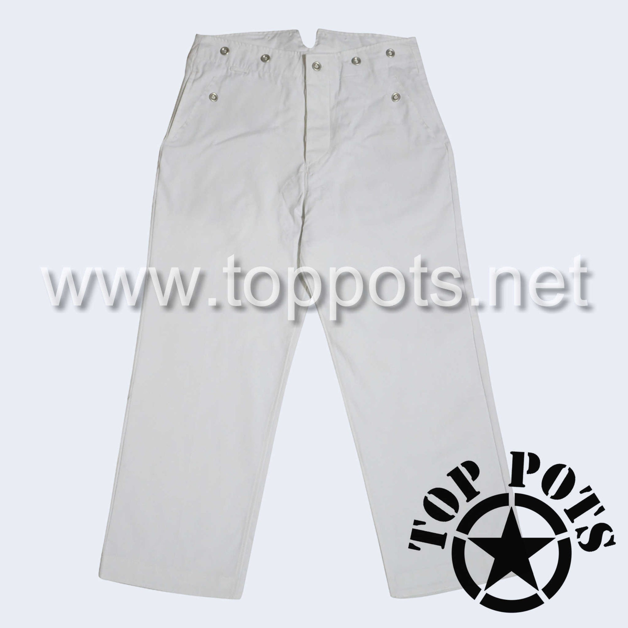 WWII German Navy Kriegsmarine Summer Uniform Pants White Cotton - Officer's Trousers