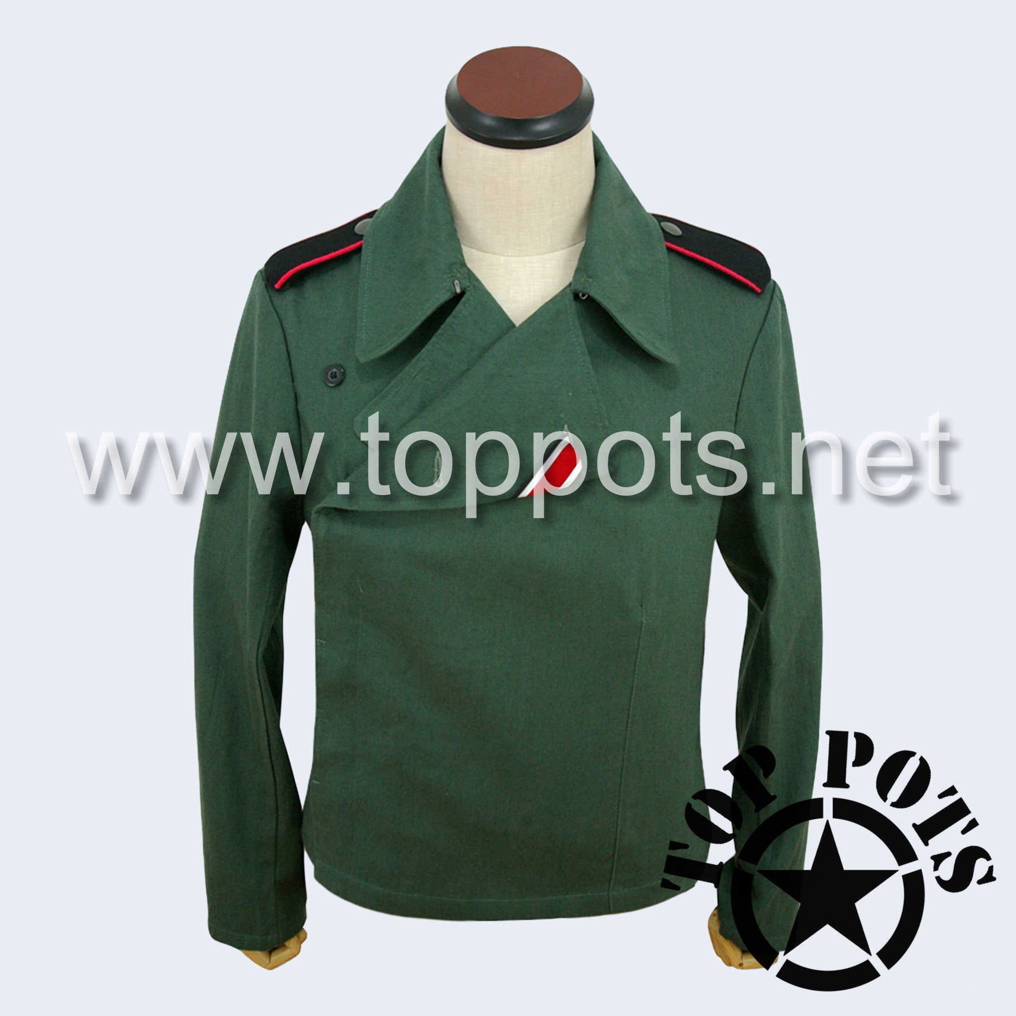 WWII German Army Waffen SS Uniform Panzer Wrap Jacket Reed Green Summer HBT - Enlisted