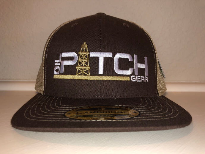 OPG CAP LG1 -  BROWN TAN MESH WITH TAN WHITE LOGO