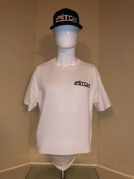 OPG White Short Sleeve T-Shirt with Black Logo