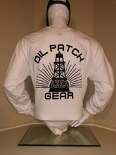 Load image into Gallery viewer, OPG White Long Sleeve T-Shirt with Black Logo