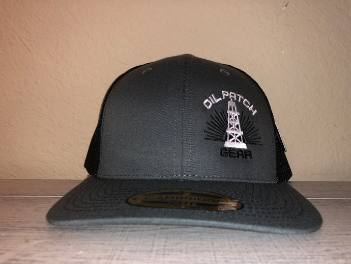 OPG CAP LG2 -  GREY TRUCKER CAP WITH BLACK MESH