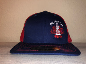 OPG CAP LG2 -  NAVY BLUE TRUCKER CAP WITH RED MESH