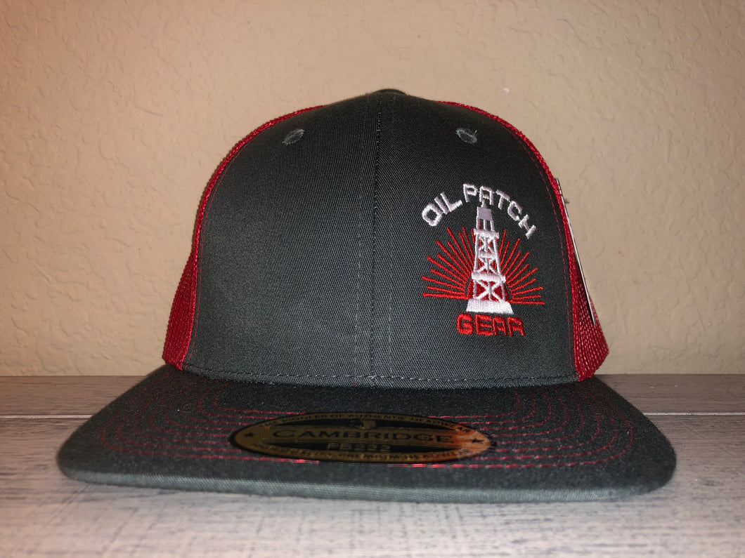 OPG CAP LG2 - GREY TRUCKER CAP WITH RED MESH