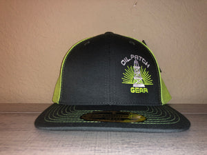 OPG CAP LG2 -  GREY TRUCKER CAP WITH LIME GREEN MESH