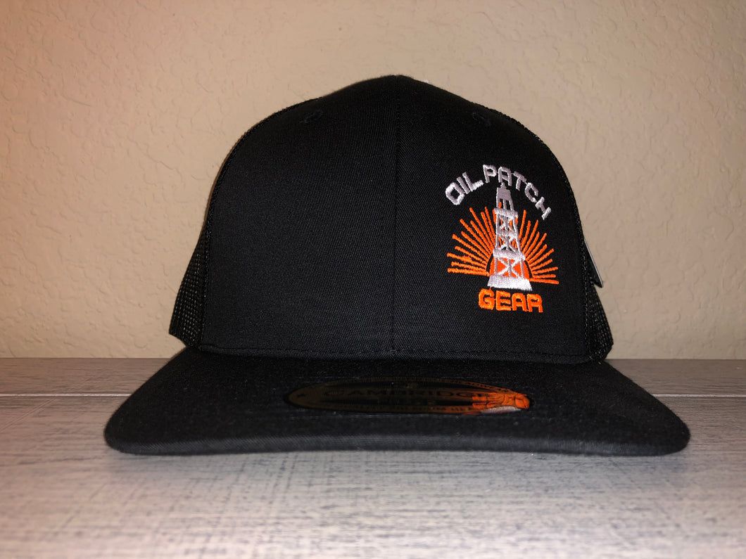 OPG CAP LG2 -  BLACK TRUCKER CAP WITH BLACK MESH