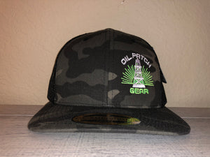 OPG CAP LG2 -  CAMO TRUCKER CAP WITH BLACK MESH