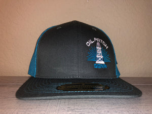 OPG CAP LG2 -  GREY TRUCKER CAP WITH TEAL MESH